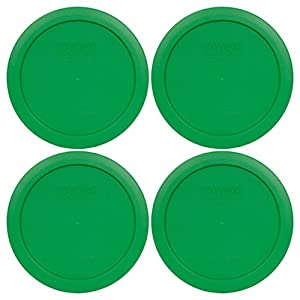 Pyrex 7201-PC Round 4 Cup Storage Lid for Glass Bowls (4, Clover Green)