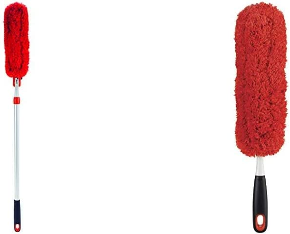OXO Good Grips Microfiber Extendable Duster & Good Grips Microfiber Hand Duster