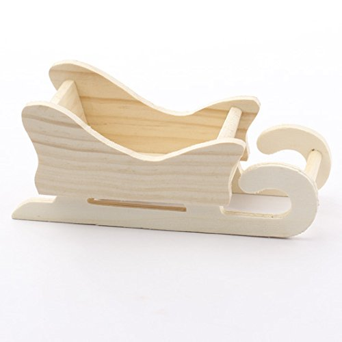 Group of 6 Unfinished Wooden Sleighs Ready to Embellish for All Your Holiday Crafts and - Wooden Sleigh