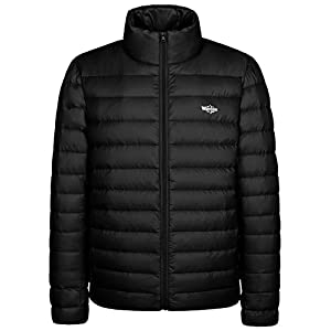 Wantdo Men's Packable Stand Collar Light Weight Down Jacket XX-Large Black