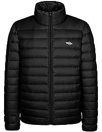 Men's Packable Stand Collar Lightweight Alternative Down Puffer Jacket