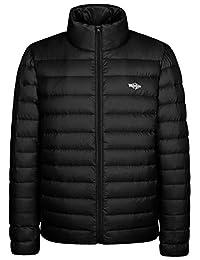 Wantdo Men's Packable Stand Collar Light Weight Down Jacket