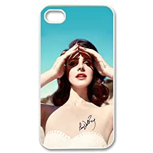 DIY American Famous Singer Lana Del Rey Custom Case Shell Cover for iPhone 5 5S TPU (Laser Technology)