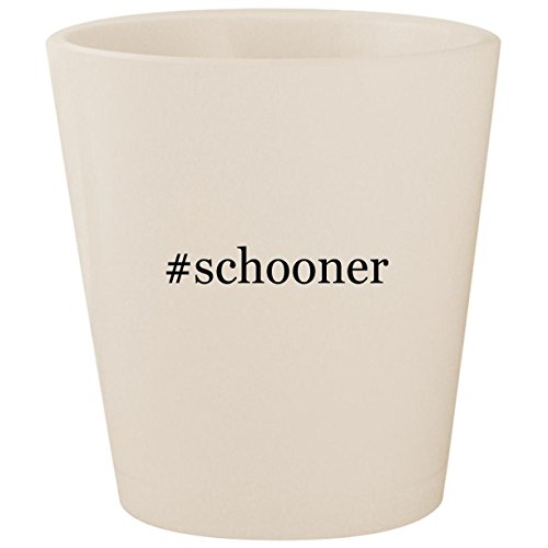 #schooner - White Hashtag Ceramic 1.5oz Shot Glass ()