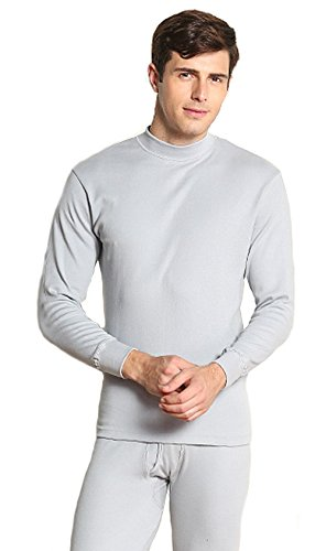long-johns-men-thin-cotton-turtleneck-sweater-of-all-underwear-set-xl-silver-grey