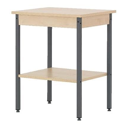 Classic oficina muebles mesa auxiliar - madera de arce 59,5 x 45d X ...