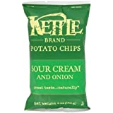 Kettle Chips Sour Cream and Onion, 5-Ounce (Pack of 15) (Value Bulk Multi-pack)
