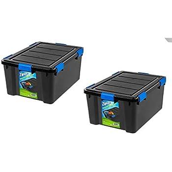Amazon Com Ziploc 60 Qt Weathershield Storage Box Black