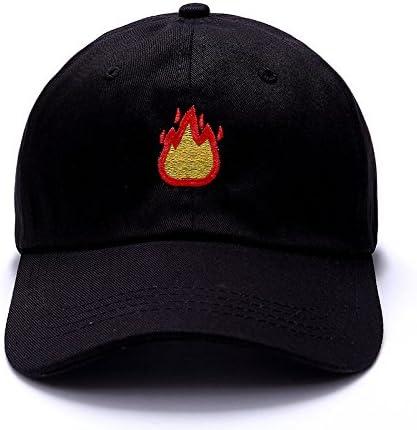 Llxln Moda Gorra De Béisbol con Fuego Bordado Hombres Sombrero ...