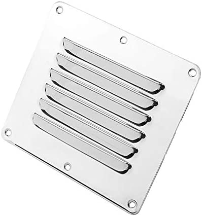Xianglaaair vent cover Marine Boot Square Air Vent Louver Grille Cover Verstelbare Uitlaatventiel roestvrij staal Ventilatie Louvered Ventilator Grill Kleur A