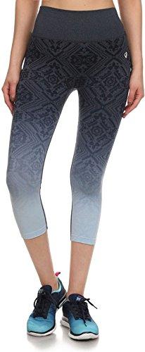 Simplicity Junior's Teenager Activewear Seamless Ombre Jacquard Capri Pants
