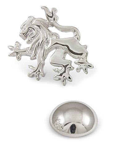 ZAUNICK Lion Rampant Lapel - Pins Lapel Lion Sterling Silver