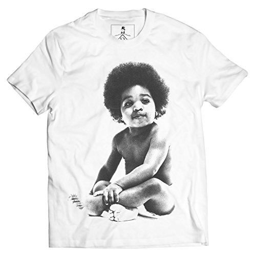 Ready to Die Baby Notorious B.I.G Biggie Hip Hop Unisex T-Shirt (Large, White)