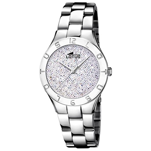 Lotus Bliss Watch for woman White dial Swarovski crystals 18568/1