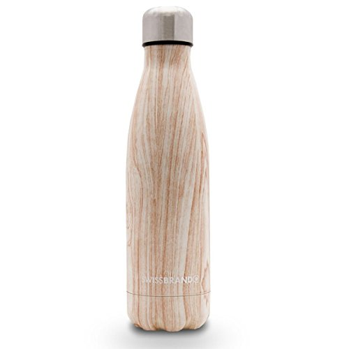 Swiss Water Bottle-1 Pack-Light Wood