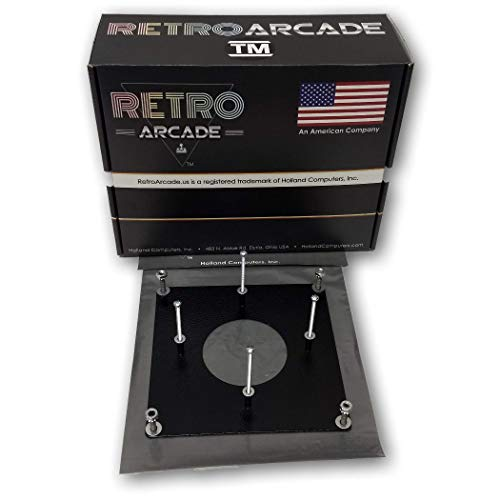 RetroArcade.us ra-Track-Mount Arcade Game 3 inch trackball Metal mounting kit, Works with ra-Track-Ball