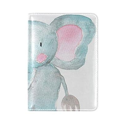 bc7d9836fc78 chic Cartoon Elephant Leather USA Passport Holder Cover Travel ...