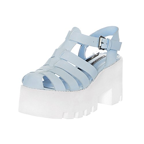 Smith Fluffy Windsor Blue Platform Sky Leather Sandalo HdBnxROaB