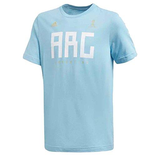 adidas World Cup Soccer Argentina Youth Boys Argentina Tee, Medium, Clear Blue