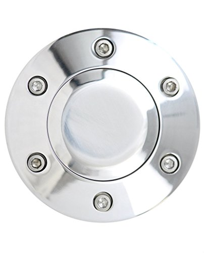 Polished 6-Hole Universal Fit Aluminum Horn Button for Aftermarket Steering Wheels (Aftermarket Steering)