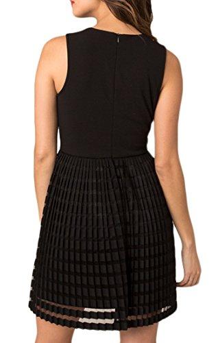 Dress Lizette Pleated BD173174 Skirt Swan in Black Black gqXESwx