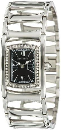 Pierre cardin PC100762F04 - Reloj analógico de mujer de cuarzo con correa de acero inoxidable plateada - sumergible a 30 metros