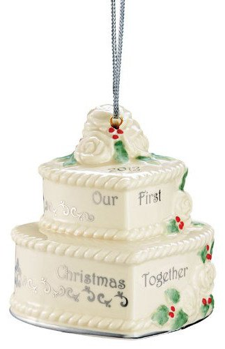 "Lenox 2013 ""Our 1St Christmas Together"" Cake Hanging Ornament"