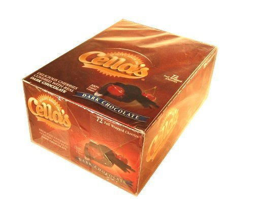 Cellas Dark Chocolate Covered Cherry 72 Count Box - 36 oz total by Cella
