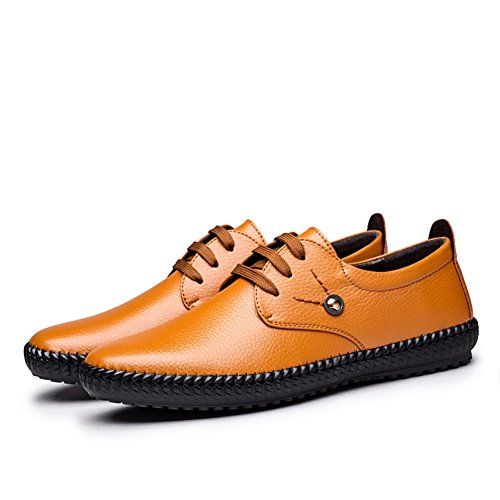 hombres Joint A Primavera y Caminar Oficina Casual Confort Heel casuales Flat Zapatos Otoño Slip Ons Fiesta Trabajo y Cuero Verano Split Noche para en Mocasines y BqRvw4Y