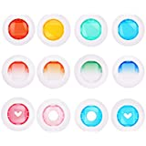 MIBOW Color Close-Up Lens Color Filter for Fujifilm Instax Mini 8/ 8+/ 9/ 7S/ KT Instant Film Cameras,12 Pieces