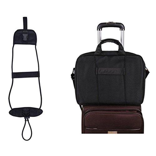 Pocket Luggage Tag (Sinwo Suitcase Belt Travel Luggage Suitcase Adjustable Belt Add A Bag Strap Carry On Bungee Travel)