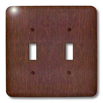 3dRose LLC lsp_41590_2 Bamboo Cherry Wood, Double Toggle Switch by 3dRose