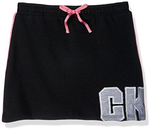 Calvin Klein Girls' Little Athleisure Skirt, Anthracite, 6