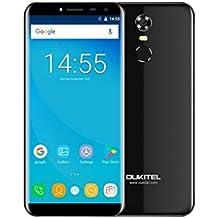 "OUKITEL C8 3G Smartphone 5.5"" 18:9 Ratio Full Vision Android 7.0 Dual SIM 3000mAh battery Quad Core 1.3GHz 2GB RAM 16GB ROM 5MP + 13MP Camera Fingerprint WiFi GPS Bluetooth Cellphone (Black)"
