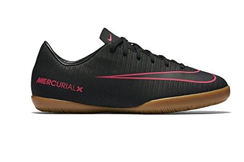 Nike Jr. Mercurial Victory VI Little/Big Kids' Indoor/Court Soccer Shoe (1 M US Little Kid, Black/Pink) ()