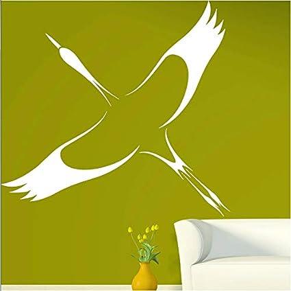 Cigogne Symbole De La Bonne Fortune Longue Duree Vinyle Autocollant Mural Decor A La Maison Salon Papier Peint Pour Murs En Rouleau 37 42cm Amazon Fr Bricolage