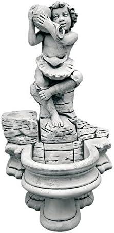 CATART Fuente de jardín Pared en hormigón-Piedra con Bomba de Agua niño Caracola 62X120cm.: Amazon.es: Jardín
