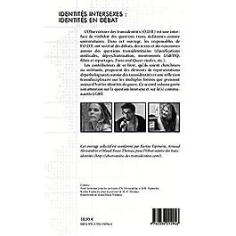 Livre : Identités intersexes : identités en débat Broché