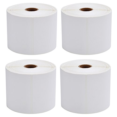 (MFLABEL 4 Rolls of 450 Direct Thermal Shipping Labels 4x6 for Zebra 2844 Zp-450 Zp-500 Zp-505)