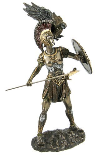 Greek Goddess Athena - Athena Greek Goddess Bronzed Statue Sculpture