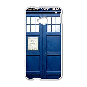 Happy Police Box Pattern Hot Seller Stylish Hard Case For HTC One M7