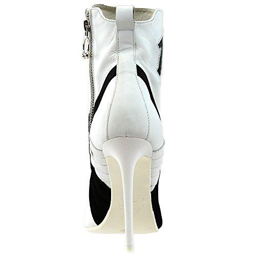 Rihanna Black Heel Shoe PUMA Puma Athletic White Puma Leather White High Puma Women's 81xHqwTI