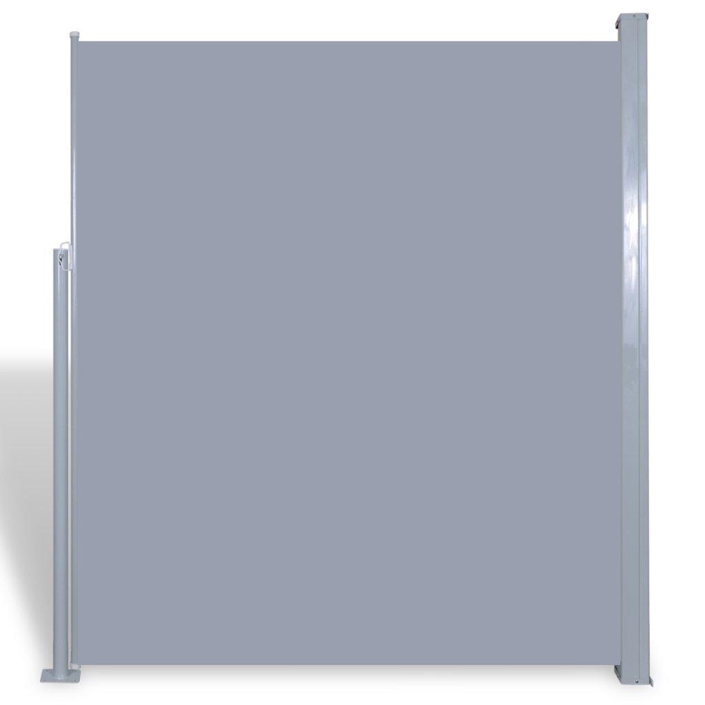 Festnight - Tenda/Frangivento Laterale Retrattile Protezione da Sole da Giardino da Patio 180 x 300 cm Grigio