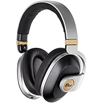 Blue Satellite Premium Wireless Noise-Cancelling Headphones with Audiophile Amp (Black)