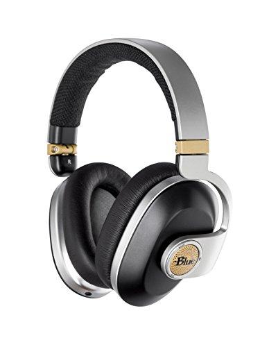 Blue Satellite Premium Wireless Noise-Cancelling Headphones with Audiophile Amp (Black), (7105)
