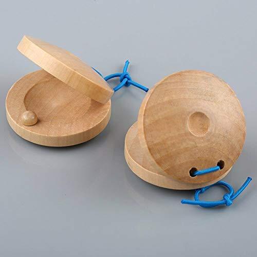 (FidgetGear 1 Pair Wooden Castanets Percussion Rhythm Musical Instrument Spanish Flamenco)
