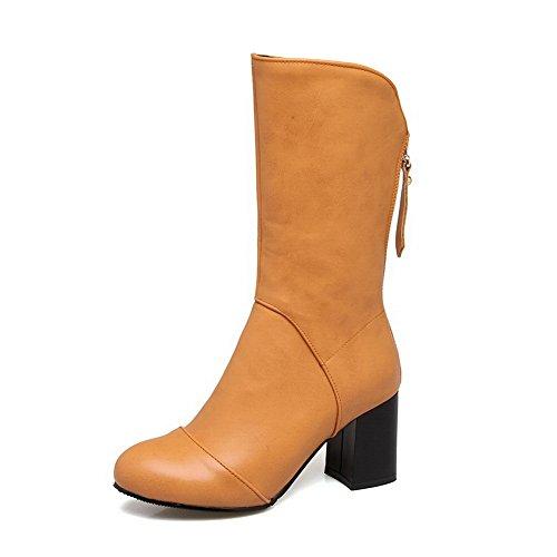 Balamasa Moda Donna Retro Antiscivolo Stivali Di Uretano Abl10215 Giallo