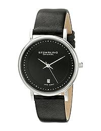 Stuhrling Original Men's 734G.02 Classic Ascot Castorra Elite Swiss Quartz Ultra Slim Date Black Dial Watch
