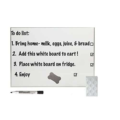Hot Great White Magnetic Dry Erase Board Combo with Dry Eraser, Pen Holder and Premium Marker (White) free shipping