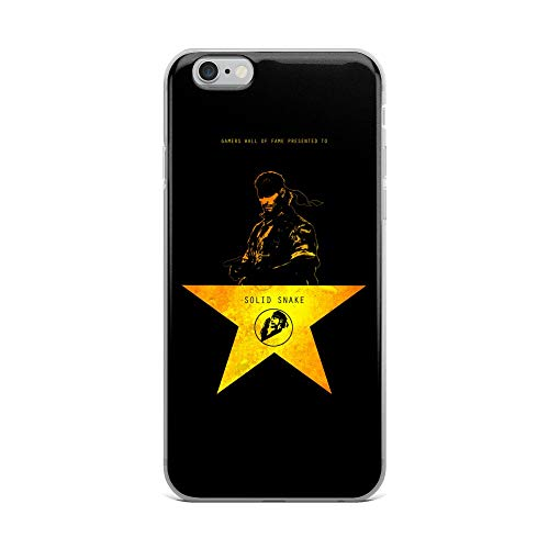 iPhone 6 Plus/6s Plus Case Anti-Scratch Gamer Video Game Transparent Cases Cover Metal Gear Solid Wall of Fame Gaming Computer Crystal Clear
